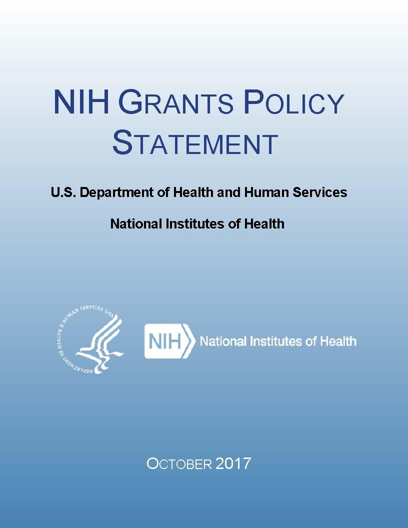 Nih Grants Policy Statement Grantsh